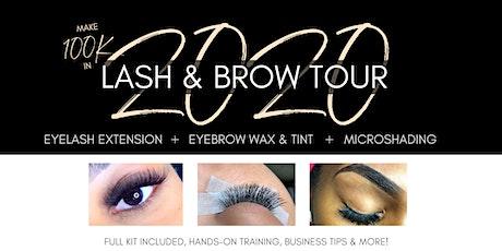 2020 10k Lash & Brow Tour - Classic Eyelash Extensions Training tickets