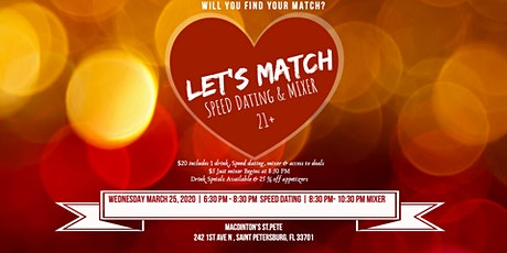 Let's Match Speed Dating & Mixer 21- 55 tickets