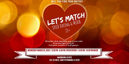 Let's Match Speed Dating & Mixer 21- 55
