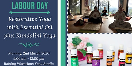 Restorative Yoga with Essential oils plus Kundalini Yoga tickets