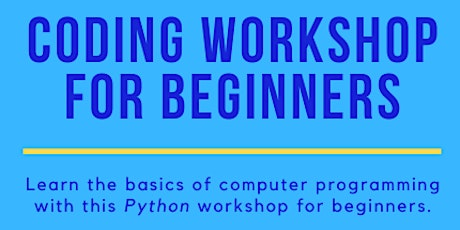Coding Workshop for Beginners tickets
