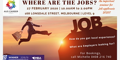 Where are the Jobs 2020? tickets