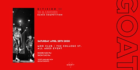 GOAT Division II - 18 & Under - Dance Competition 2020 tickets