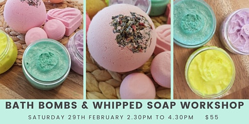 Bath Bomb and Whipped Soap Making Workshop