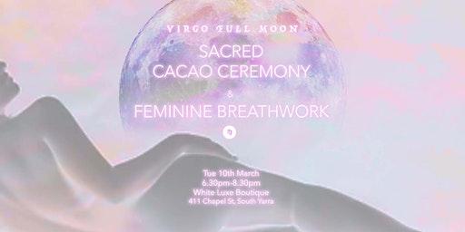 Full Moon Sacred Cacao & Breathwork Ceremony