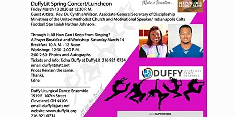 DUFFY LITURGICAL DANCE ENSEMBLE SPRING EVENT tickets