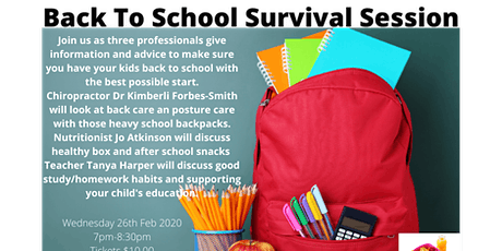 Back To School Survival Session. tickets