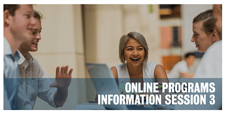 Online Programs Information Session 3 tickets