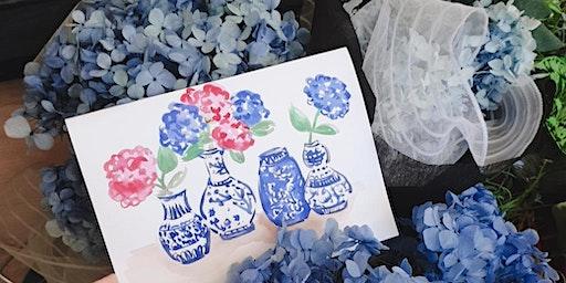 @alittlebitebygrace Watercolour Floral Workshop