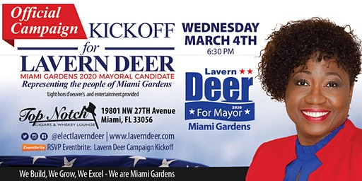 Lavern Deer Campaign Kickoff
