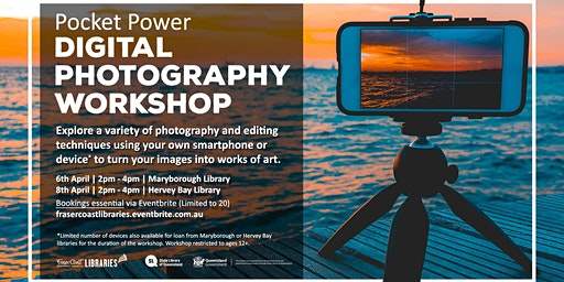 Pocket Power Digital Photography Workshop  -  Maryborough Library