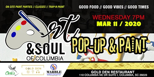 Art & Soul of Columbia - Pop-Up & Paint 03/11