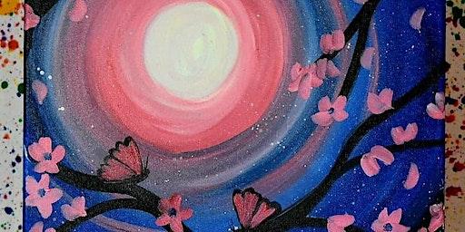 Midnight Butterflies Sip and Paint Night