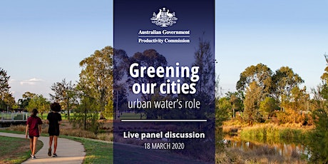 Greening  our cities: urban water's role tickets