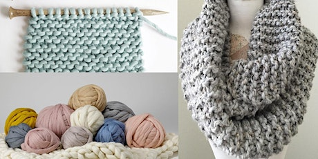 Learn to Knit and Complete A Cowl Scarf in Two Weeks tickets