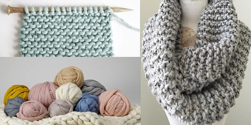 Learn to Knit and Complete A Cowl Scarf in Two Weeks