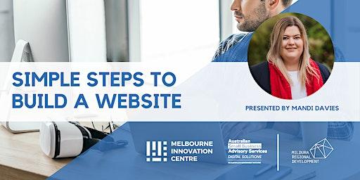 Simple Steps to Build a Website - Mildura