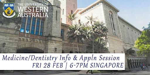 Medicine / Dentistry Info & Appln Session - Uni of Western Australia