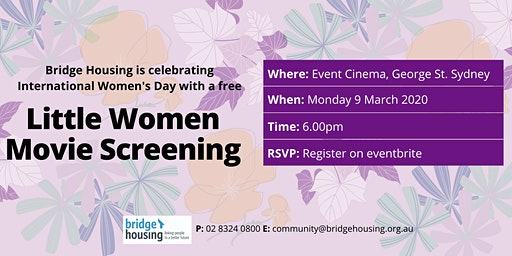 Bridge Housing International Women's Day Movie Screening - Little Women