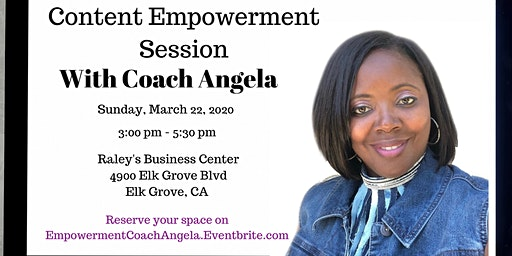 Content Empowerment Session with Coach Angela