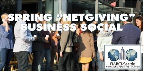 """Spring """"Netgiving"""" Real Estate Business Social tickets"""