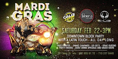 MARDI GRAS Downtown Block Party #Houston tickets