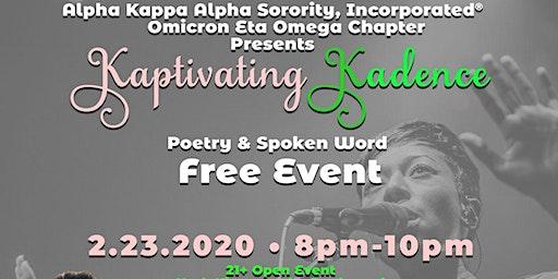 Kaptivating Kadence Poetry & Spoken Word Free Event