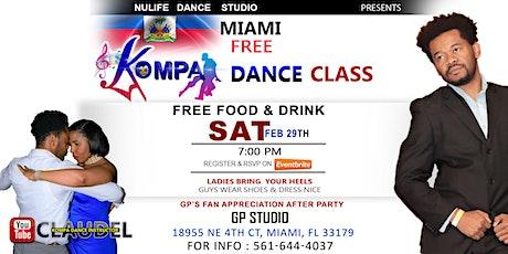 MIAMI-- KOMPA DANCE CLASS SAT FEB 29TH tickets