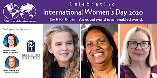 BPW Joondalup-Wanneroo/Mater Dei College International Women's Day High Tea