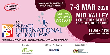 10th Private & International School Fair in Johor tickets