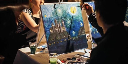 A Starry Night at Hogwarts: Harry Potter meets Van Gogh