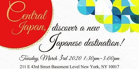 Central Japan, Discover A New Japanese Destination! tickets