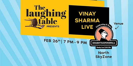 Ready to laugh out loud at 'The Laughing Tables' with Vinay Sharma