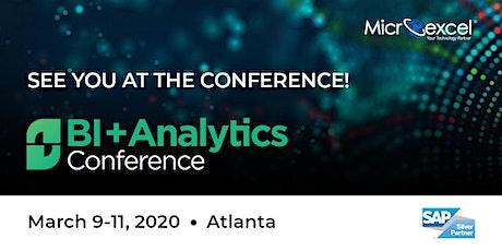 BI+Analytics Conference tickets