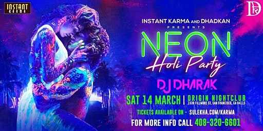NEON HOLI PARTY WITH DJ DHARAK: A Bollywood Night