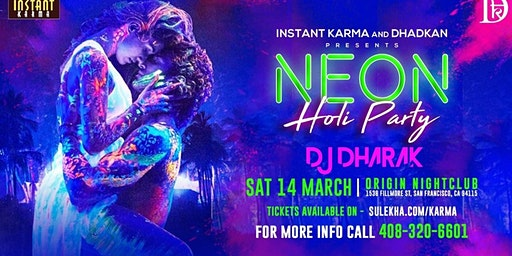 Neon Holi Party with India's DJ Dharak