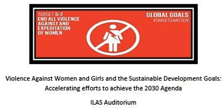 Violence Against Women and Girls and the Sustainable Development Goals tickets