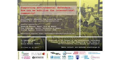 Supporting environmental defenders: mobilizing the international community billets