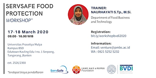 Workshop - ServSafe Protection Food