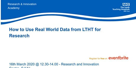 How to Use Real World Data from LTHT for Research tickets
