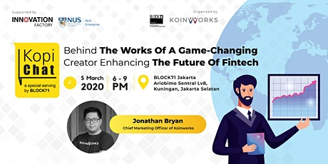 [Kopi Chat] Behind The Works Of A Game-Changing Creator Enhancing Fintech tickets