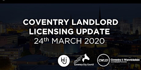 COVENTRY LANDLORD  LICENSING UPDATE tickets