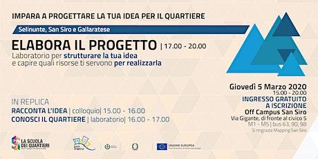 Elabora il progetto per partecipare al bando @Selinunte S. Siro Gallaratese biglietti