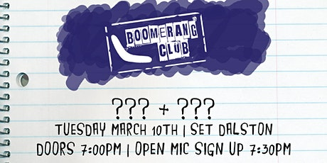 Boomerang Club #60 tickets
