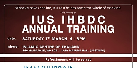 IUS IHBDC Annual Training tickets
