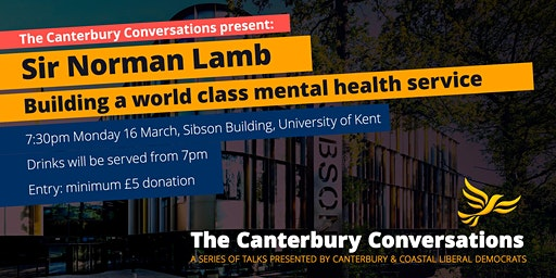 The Canterbury Conversations present: Sir Norman Lamb