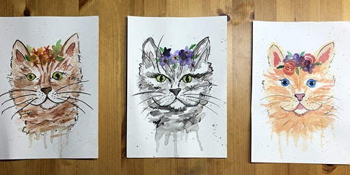 Creative Cats: A beginners water colour workshop
