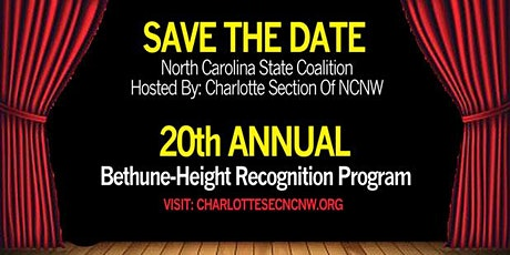 Bethune-Height Recognition Program (BHRP) tickets