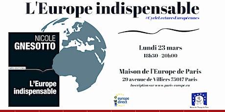 « L'Europe indispensable », CNRS Editions, 2019  billets