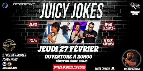 Juicy Jokes#4 ~27.02~ @JuicyPopRestaurant billets